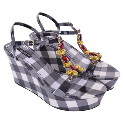 Dolce & Gabbana Wedges with checked pattern