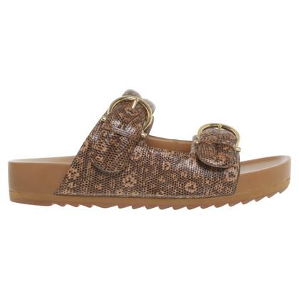 Salvatore Ferragamo Sandals with reptile embossing