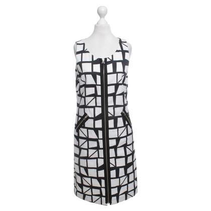 Steffen Schraut Kleid in Schwarz/Weiß