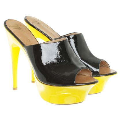 Giuseppe Zanotti Peep-toes with yellow plateau