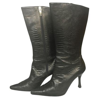 Cerruti 1881 Bottes en cuir noir