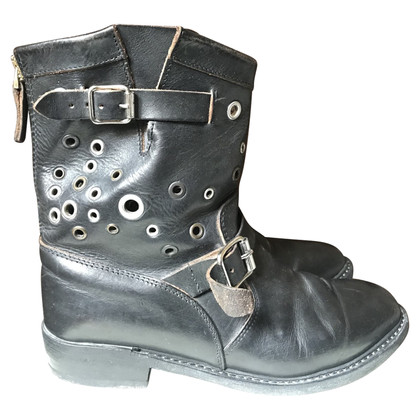 Golden Goose Biker ankle boots with studs