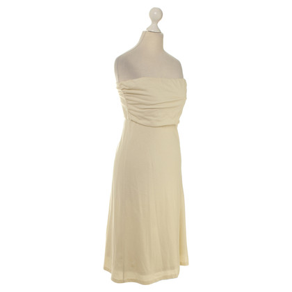 Ralph Lauren Bandeaukleid in Creme