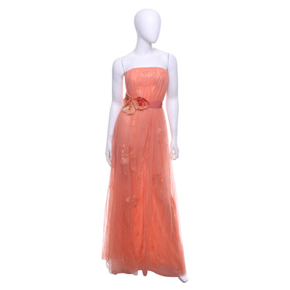 Elisabetta Franchi Peach-colored dress with flowers