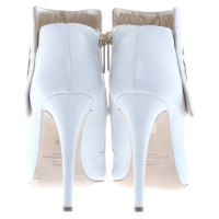 Elisabetta Franchi Ankle peep-toes with decorative stitching