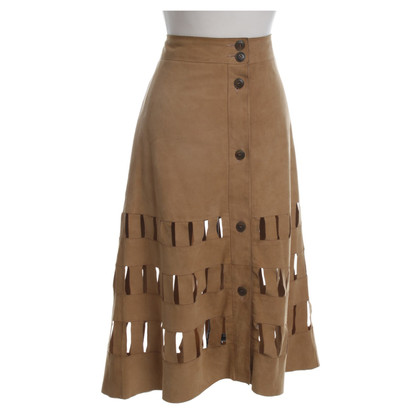 Aigner skirt suede