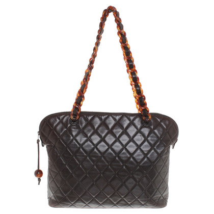 Chanel Borsa a tracolla in marrone scuro