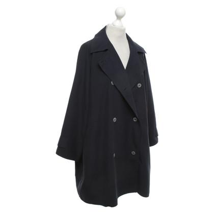 Max Mara Oversized jas in donkerblauw