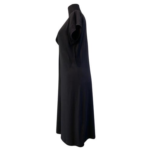 edeed09939 Marina Rinaldi Dress Viscose in Black - Second Hand Marina Rinaldi ...