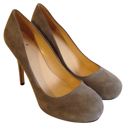 12010b5f505a Kate Spade pumps   Peeptoes made of leather in grey - Second Hand ...