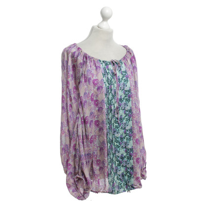Roberto Cavalli Silk blouse with a floral pattern