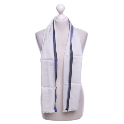Costume National silk scarf with pinstripe