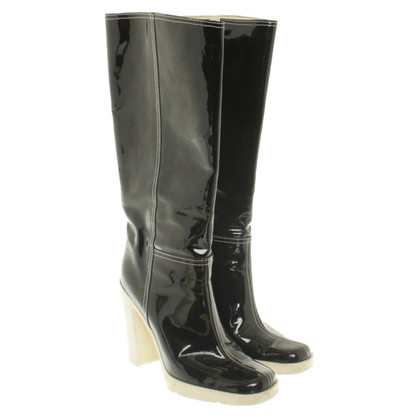 Miu Miu Boots in black patent leather