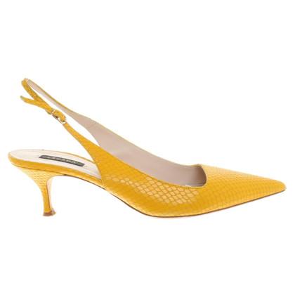 Escada pumps with reptile embossing