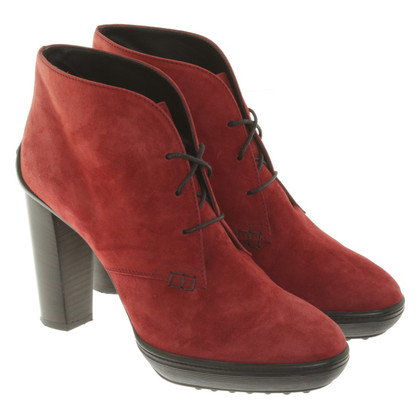 Tod's Ankle boots in red