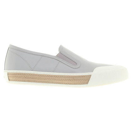 Tod's Slipper in grey / white