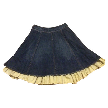 DKNY Jeans-skirt with ruffles