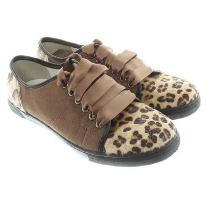Lanvin Sneakers mit Fell-Details