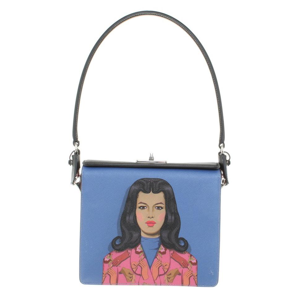 Prada Handtasche mit Frauen-Motiv