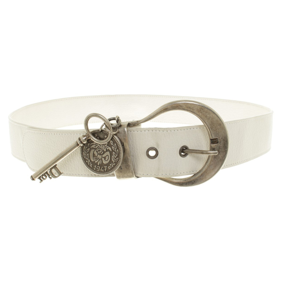 Christian Dior Belt in cream white