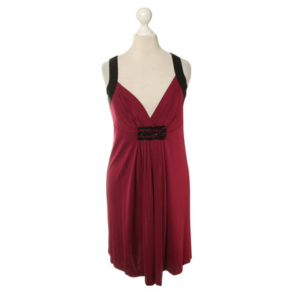 Philosophy di Alberta Ferretti Red dress with sequin pattern
