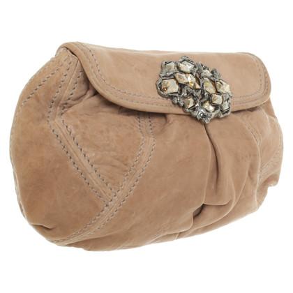 Miu Miu clutch in marrone chiaro