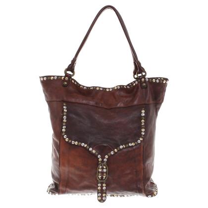 Campomaggi Handtasche mit Nietenbesatz