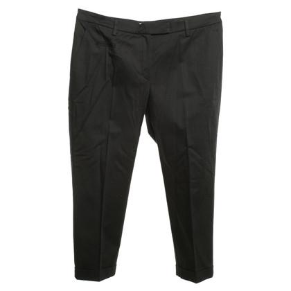 Gunex pantaloni a pieghe in nero