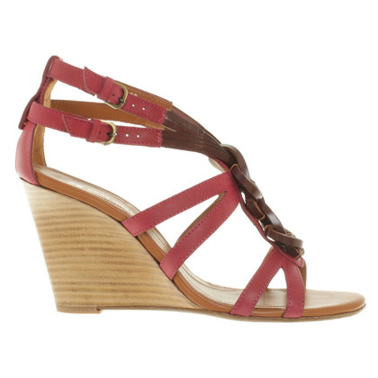 Boss Orange Sandalen met houten sleehak