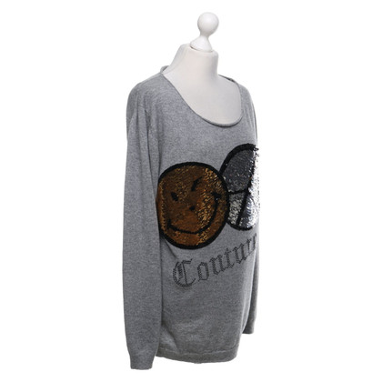 Camouflage Couture Light gray cashmere sweater