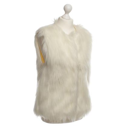 Kaviar Gauche Bianco di gilet di pelliccia del faux