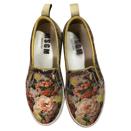 MSGM Slip ons with a floral pattern
