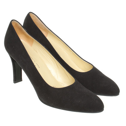 Jourdan Schwarze Wildleder-Pumps