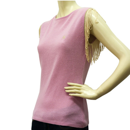 Matthew Williamson Wool Knit Sleeveless Top w/ Fringes