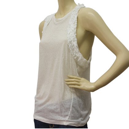 Dsquared2 Sleeveless T Shirts with Frill Trimming