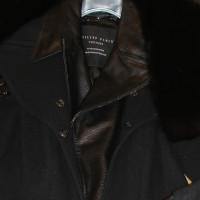 Philipp Plein Cappotto di pelle di lana pelliccia di volpe 36