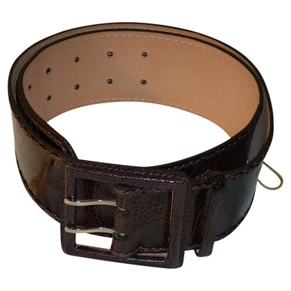 Reptile's House Belt made of ostrich leather