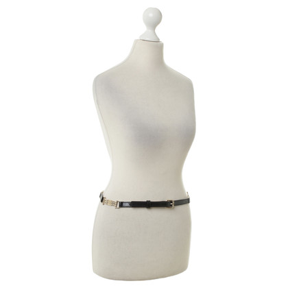 Céline Patent leather belt