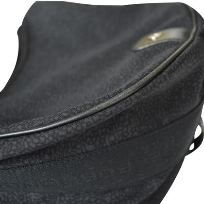Borbonese schouder zwarte stoffen zak