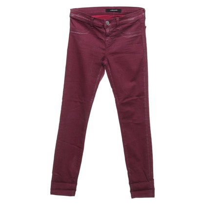 J Brand Bordeauxkleurige jeans
