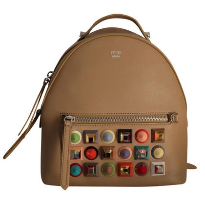 Fendi Studded Leather Backpack