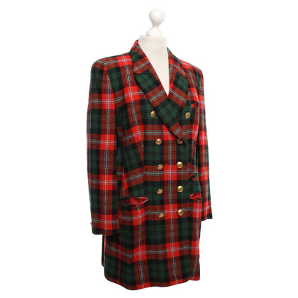 Rena Lange Short coat with check pattern