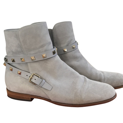 Valentino Gray Ankle Boots