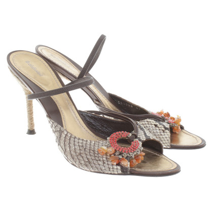 Baldinini Sandals made of reptile leather