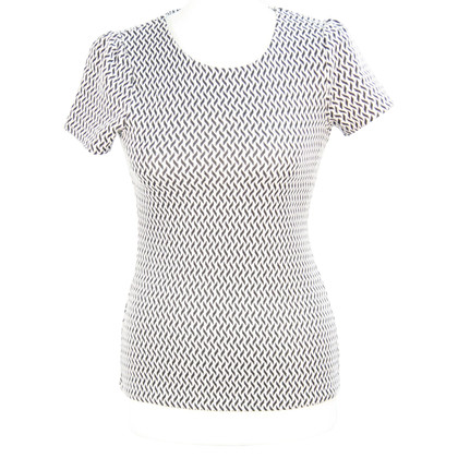 Reiss top in black and white