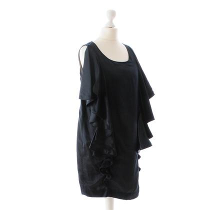 Marcel Ostertag Zwarte jurk met volants
