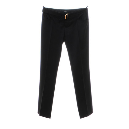 Gucci Black wool pants in shiny processing