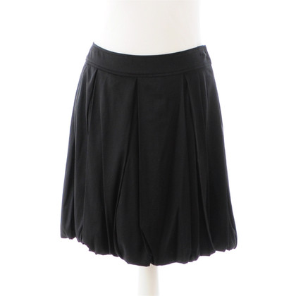 Diane von Furstenberg Black silk skirt with pleats