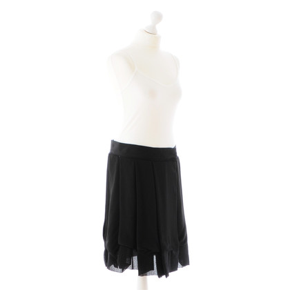 Chloé Black pleated skirt