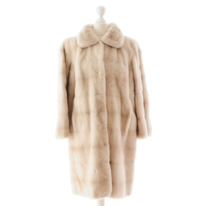 Fendi Cream mink fur coat